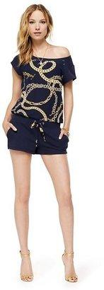 Juicy Couture Romper in Chain Link Fleece