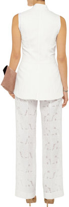Vera Wang High-rise jacquard pants