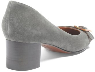 Brooks Brothers Kid Suede Low-Heel Pump
