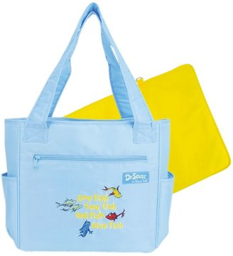 Trend Lab Dr. seuss's one fish two fish diaper tote bag