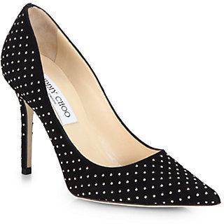 Jimmy Choo Abel Studded Suede Pumps
