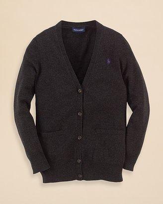 Ralph Lauren Girls' Boyfriend Cardigan - Sizes S-XL