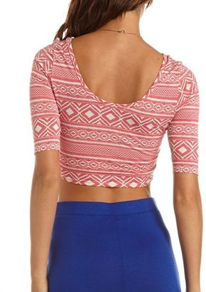 Charlotte Russe Spiked Knit Crop Top