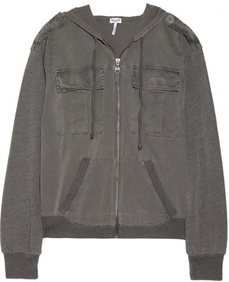 Splendid Twill and cotton and modal-blend hooded top