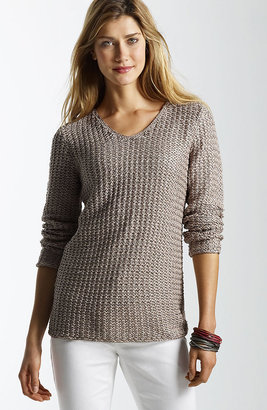 J. Jill Matte-and-shine pullover
