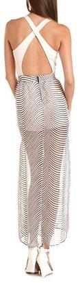 Charlotte Russe Crisscross Back 2-Fer Maxi Dress