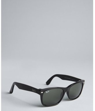 Ray-Ban black acrylic 'New Wayfarer' sunglasses