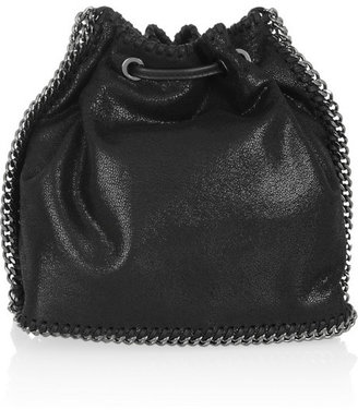 Stella McCartney The Falabella faux brushed-leather bucket bag