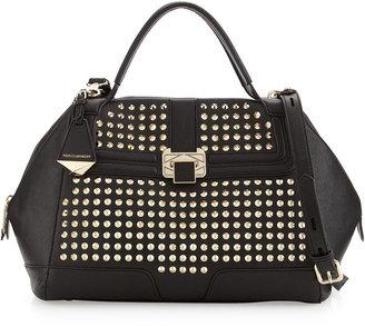 Rebecca Minkoff Collection Scarlet Studded Satchel Bag, Black