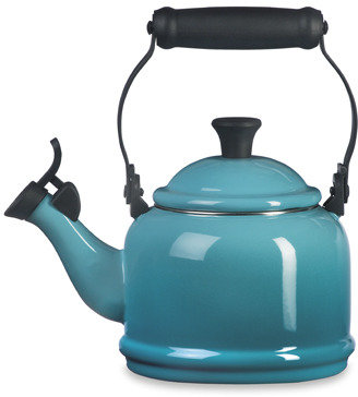 Le Creuset Caribbean Blue Demi 1.25-Quart Whistling Tea Kettle