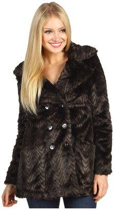 Sanctuary Urban Luxe Faux Fur Coat (Black) - Apparel