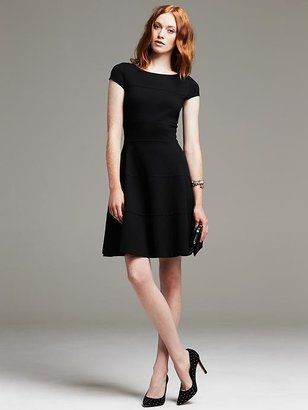Banana Republic Seamed Fit-and-Flare Dress