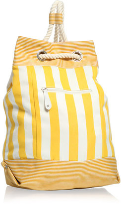 Asos Stripe Canvas Duffle Bag