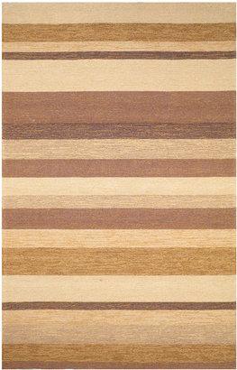 "Liora Manné Area Rug, Indoor/Outdoor Promenade 1900/12 Stripe Sand 7'6"" x 9'6"""