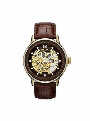 Fossil Relic by Men's Damon Automatic Stainless Steel and Leather Dress Watch