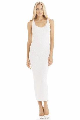 Torn By Ronny Kobo Maggie Lasso Diamonds Dress in White