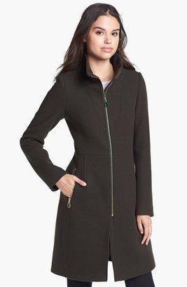 Elie Tahari 'Loraina' Zip Front Wool Blend Coat