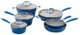 Fagor Michelle B by 10-Piece Forged Aluminum Cookware Set - Blue