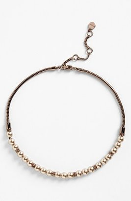 Givenchy Faux Pearl Frontal Necklace