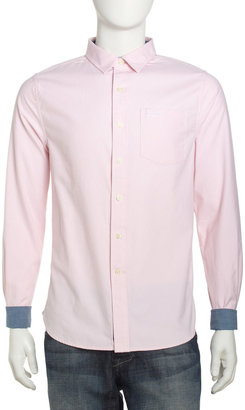 Superdry Long-Sleeve Oxford Shirt, Pink
