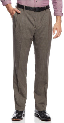 Nautica Houndstooth Checked Pleated Dress Pants