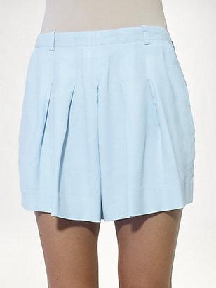 Chloé Pleated Cady Shorts