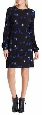 Chaps Floral Jersey A-Line Dress