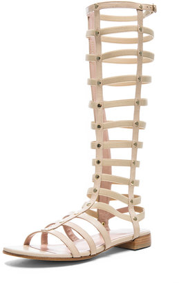 Stuart Weitzman Nappa Leather Gladiator Sandals in Pan