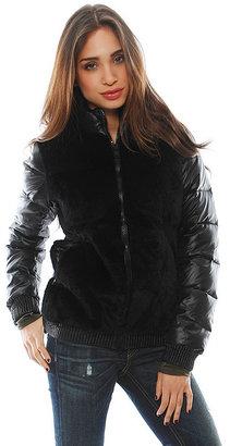 Elizabeth and James Austin Puffer Jacket in Black