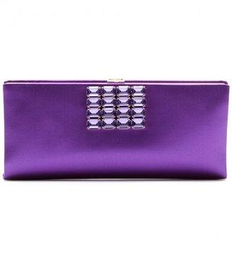 Roger Vivier Plaque Vendôme satin clutch with embellishment