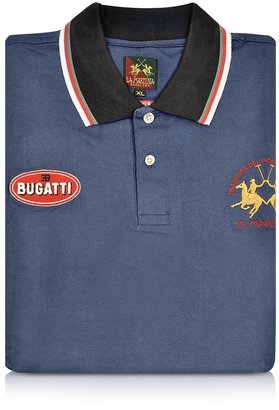 Bugatti EB Blue Cotton Pique Polo Shirt by La Martina