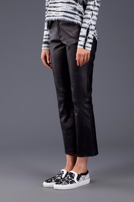Proenza Schouler Leather Cropped Pant