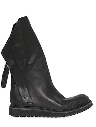 Cinzia Araia Leather Double Zip Biker Boots