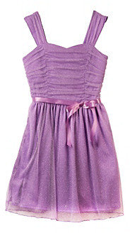 Amy Byer Girls' 7-16 Purple Roller Glitter Sparkle Dress