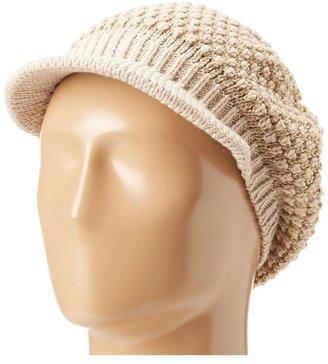 Calvin Klein Popcorn Stitch Cabbie Hat (Heathered Almond) - Hats