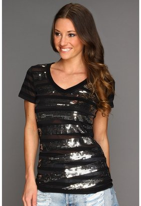 Rock and Roll Cowgirl - Embellished S/S Tee (Black) - Apparel