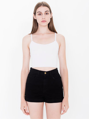 American Apparel Stretch Bull Denim High-Waist Cuff Short