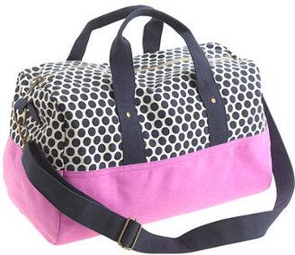 J.Crew Girls' canvas overnight bag in dot