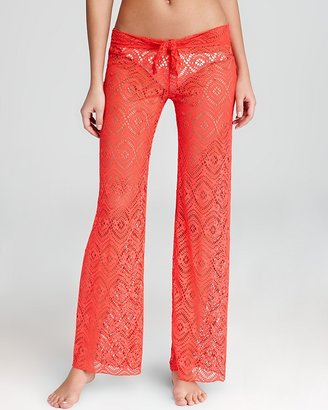 Becca by Rebecca Virtue Colorized Crochet Pant Swimsuit Cover Up