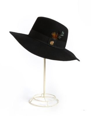 Vince Camuto Wool Felt Feather Floppy Hat