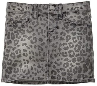 Gap 1969 Leopard Denim Mini Skirt
