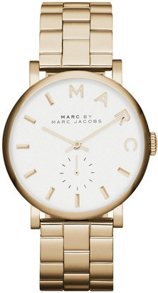 Marc by Marc Jacobs Watch, Women's Baker Gold-Tone Stainless Steel Bracelet 37mm MBM3243 $225 thestylecure.com