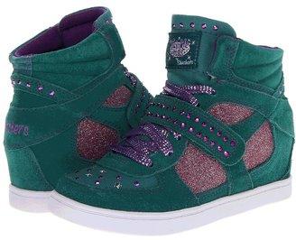 Skechers Twinkle Talls - Twinkle Plus 2 80165L (Little Kid/Big Kid) (Teal/Purple) - Footwear