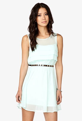 Forever 21 Pleated Georgette Dress
