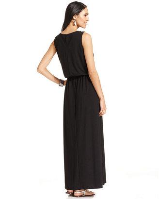 Style&Co. Petite Blouson Maxi Dress