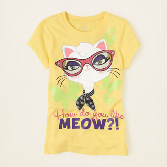 Children's Place Meow graphic tee