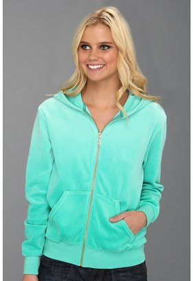 Juicy Couture Ombre Velour Relaxed Jacket (Bright Jade Ombre) - Apparel