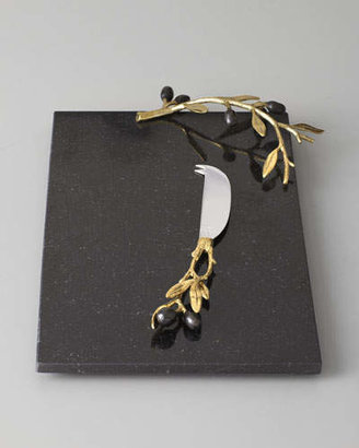 Michael Aram Golden Olive Branch Cheese Board & Knife