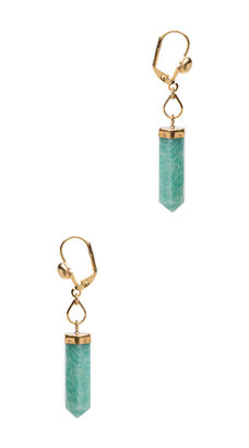 Isabel Marant New Day Brass Earrings in Gold & Green
