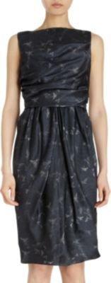 David Szeto Bird Print Dress